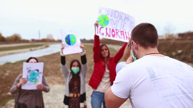 climate change protest - campaigner stock videos & royalty-free footage