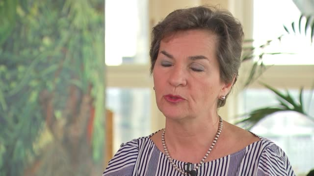 UN report warns governments they have 12 years to cut carbon dioxide levels LOCATION Christiana Figueres interview SOT