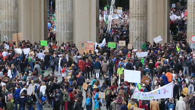 climate protest in berlin germany on friday september 20 2019 - hangman stock videos and b-roll footage