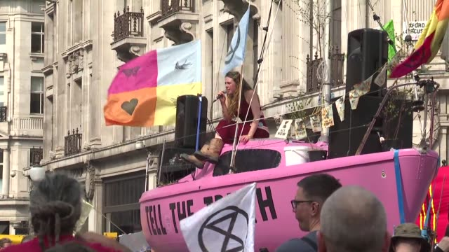 a climate protester says she thinks the extinction rebellion demonstration now into its fourth day is gathering momentum and media coverage even as... - the media stock videos & royalty-free footage