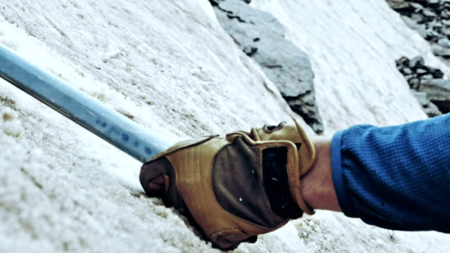climber on a rock wall. caucasus mountains. equipment details - climbing rope stock videos & royalty-free footage