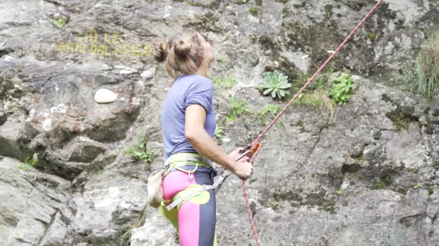 climber on the italian alps - krab stock videos & royalty-free footage