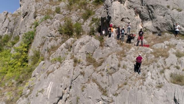 climbing class - climbing equipment stock videos & royalty-free footage