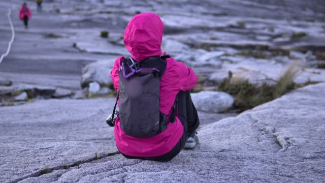 climbing mount kinabalu. - recreational horseback riding stock videos & royalty-free footage