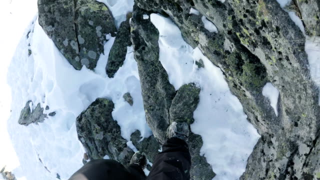 climbing on mountain peak - human limb stock videos & royalty-free footage