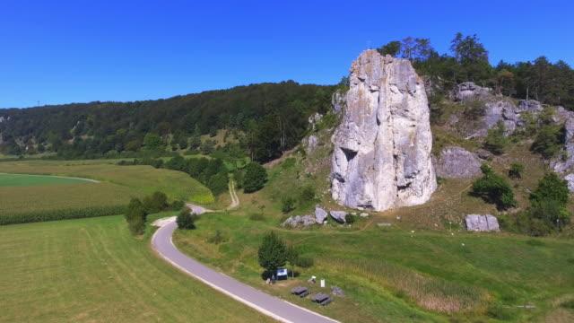Climbing Rock In Jurassic Mountain Range