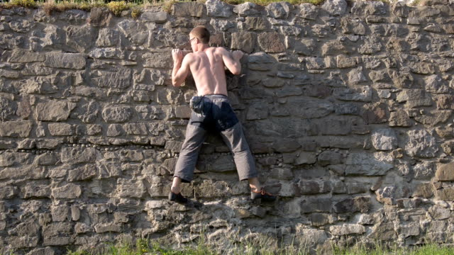 Climbing Roman Wall