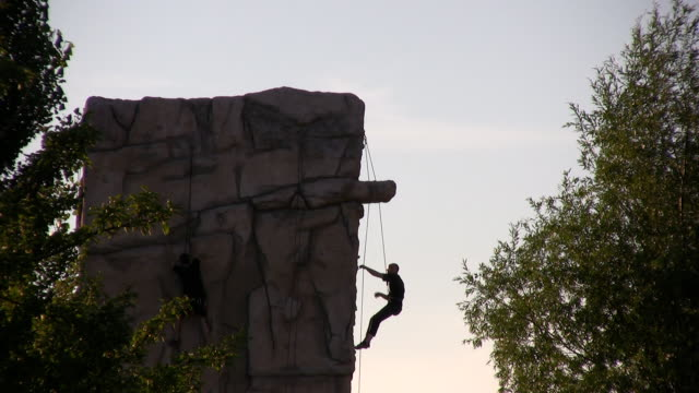 climbing - abseiling stock videos & royalty-free footage