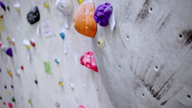 climbing wall indoor - climbing wall stock videos & royalty-free footage