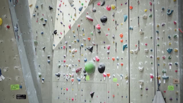 climbing wall indoor - free climbing stock videos & royalty-free footage