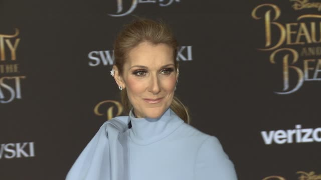 céline dion at the premiere of disney's beauty and the beast at the el capitan theatre on march 02 2017 in hollywood california - céline dion stock videos & royalty-free footage