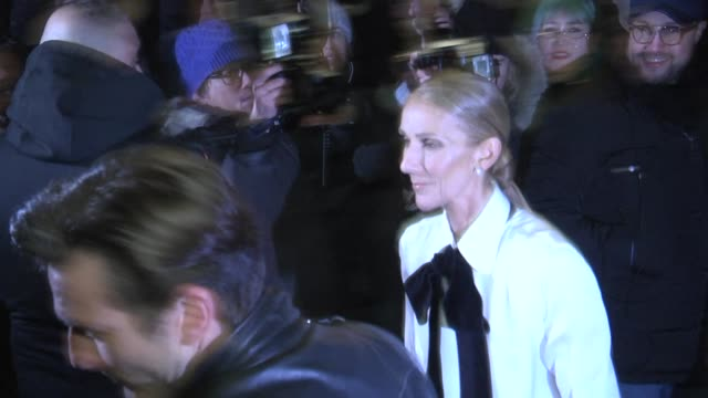 céline dion attends the armani spring summer 2019 show as part of paris fashion week on january 22 2019 in paris france - céline dion stock videos & royalty-free footage