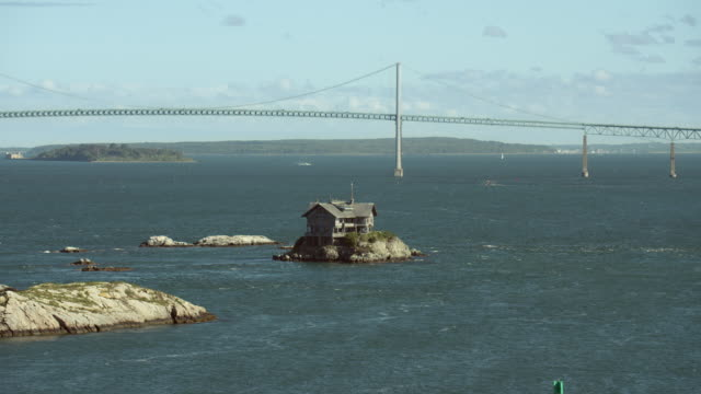Clingstone And Newport Bridge In RI