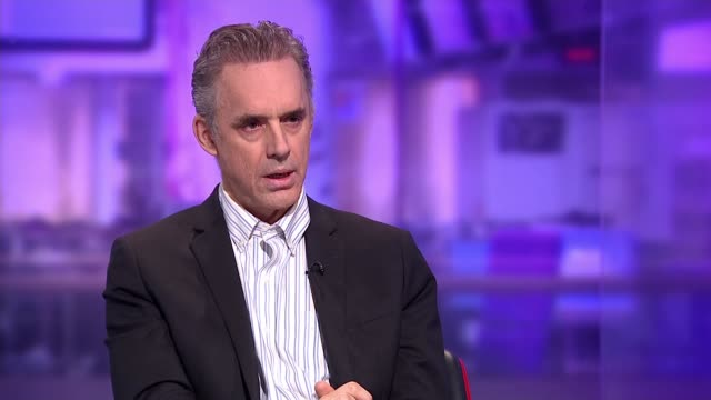 clinical psychologist jordan peterson interview england london gir int jordan peterson studio interview sot on the gender pay gap / gender equality /... - cathy newman stock-videos und b-roll-filmmaterial