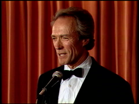 Clint Eastwood at the 1989 Golden Globe Awards at the Beverly Hilton in Beverly Hills California on January 28 1989