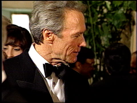 clint eastwood at the 1993 golden globe awards at the beverly hilton in beverly hills, california on january 23, 1993. - 1993 stock videos & royalty-free footage
