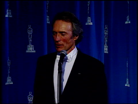 Clint Eastwood at the 1995 Academy Awards at the Shrine Auditorium in Los Angeles California on March 27 1995