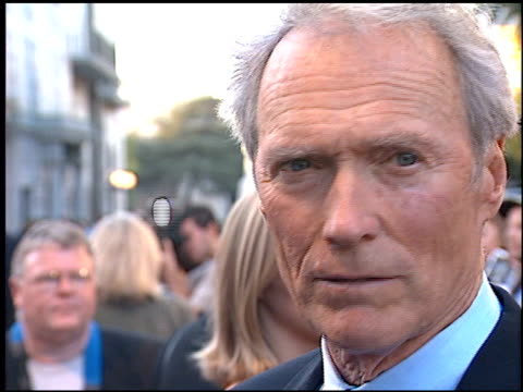 Clint Eastwood at the 'Blood Work' Premiere at Warner Brothers in Burbank California on August 6 2002