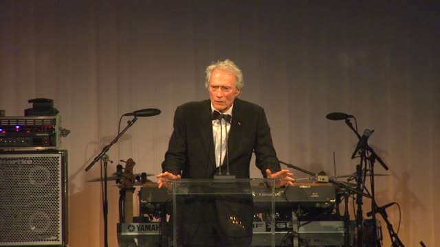 Clint Eastwood at the LACMA Hosts Inaugural Art Film Gala Honoring Clint Eastwood And John Baldessari Presented By GUCCI at Los Angeles CA