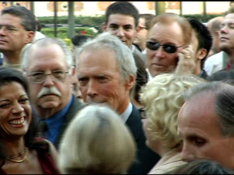 clint eastwood at the usc school of film and television's 75th anniversary gala at hobart auditorium in los angeles california on september 26 2004 - 75th anniversary stock videos & royalty-free footage