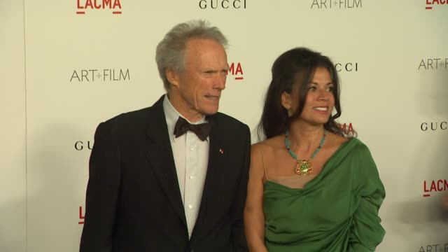 Clint Eastwood Dina Eastwood at the LACMA Hosts Inaugural Art Film Gala Honoring Clint Eastwood And John Baldessari Presented By GUCCI at Los Angeles...