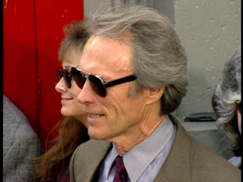 Clint Eastwood is photographed at the Hollywood Walk of Fame