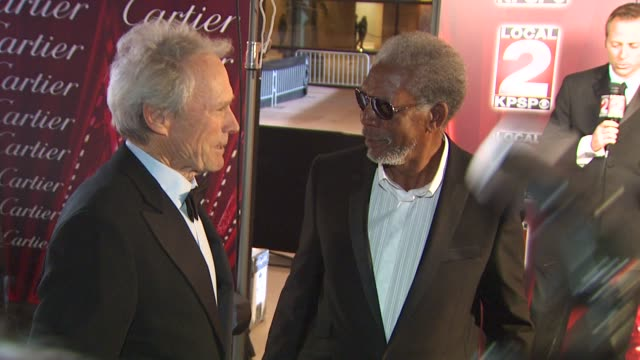 Clint Eastwood Morgan Freeman at the 21st Annual Palm Springs International Film Festival Opening Night Gala at Palm Springs CA