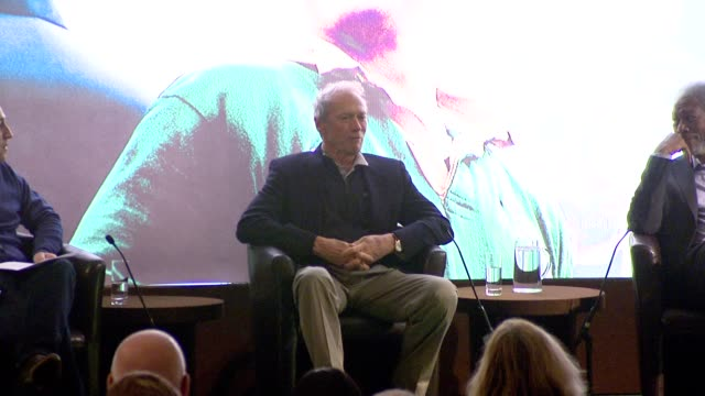 clint eastwood on always saying he's retiring from acting, on doing gran torino, on not knowing what roles could still be out there for him at his... - クリント・イーストウッド点の映像素材/bロール