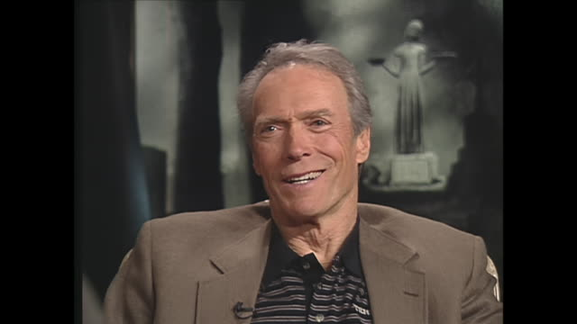 clint eastwood on being a father - クリント・イーストウッド点の映像素材/bロール