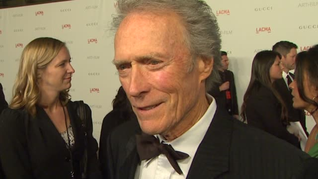 clint eastwood on how he feels to be receiving this honor the significance of art film for lacma and his favorite lacma memory/moment at the lacma... - 光栄点の映像素材/bロール