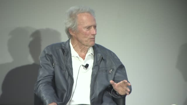 clint eastwood on the beginning of his acting career at cinema masterclass with clint eastwood on may 21, 2017 in cannes, france. - クリント・イーストウッド点の映像素材/bロール