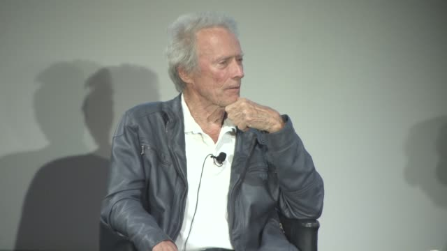 clint eastwood on 'the bridges of madison county' and on working with meryl streep at cinema masterclass with clint eastwood on may 21, 2017 in... - クリント・イーストウッド点の映像素材/bロール
