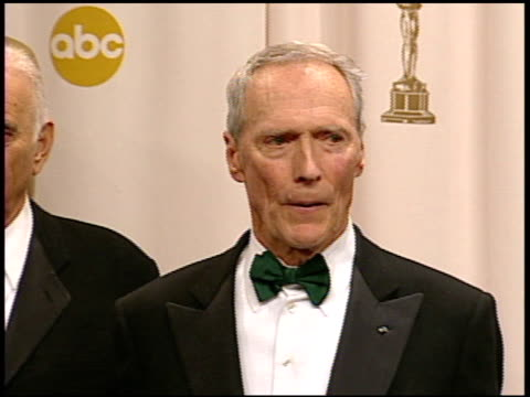 "Clint Eastwood winner Best Director for ""Million Dollar Baby"" and Best Picture for ""Million Dollar Baby"" at the 2005 Annual Academy Awards at the..."