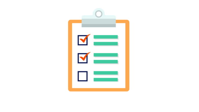 clipboard with white document paper with a list of tick checkmarks - checklist stock videos & royalty-free footage
