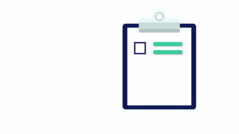 clipboard with white document paper with a list of tick checkmarks - form stock videos & royalty-free footage