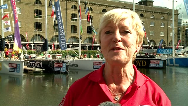 clipper round the world yacht race: 73 year old crew member gil sharp; england: london: st katharine dock: ext gil sharp interview sot - circumnavigation stock videos & royalty-free footage