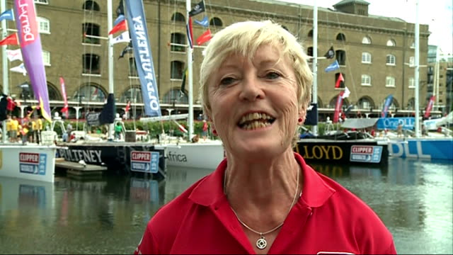 clipper round the world yacht race: 73 year old crew member gil sharp; england: london: st katharine dock: ext gil sharp interview sot cutaway gil... - circumnavigation stock videos & royalty-free footage
