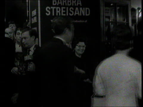 part 1 tx princess margaret attends funny girl premiere with lord snowdon and meets a young barbara streisand backstage - teilnehmen stock-videos und b-roll-filmmaterial