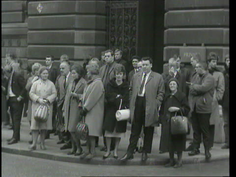 Part 1 TX Coronation Street stars from LR Arthur Leslie Doris Speed and Pat Phoenix visit 10 Downing Street for a 'sherry party' / Photocall with...