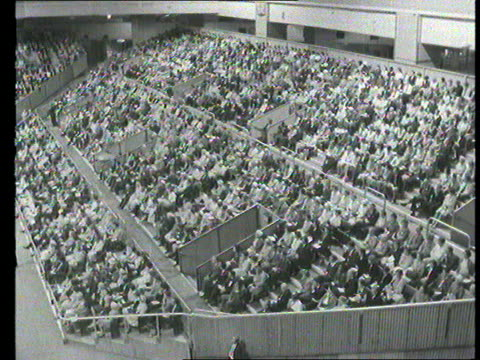 part 1 tx evangelist preacher billy graham speaking at mass convention at earls court london in front of packed audience sot - preacher stock videos & royalty-free footage