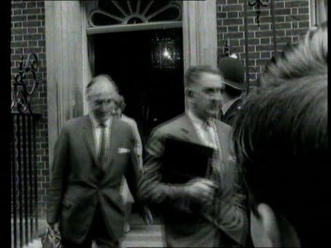 part 1 tx 'the squeeze' wilson imposes a prices and wages freeze due to economic crisis shows labour cabinet members and prime minister harold wilson... - 1966 stock videos and b-roll footage
