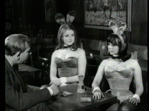 Part 1 TX Playboy Bunny hostesses trained/report on Hugh Hefner Shows brother of Playboy entrepreneur Hugh Hefner training girls to be bunnies SOT/...