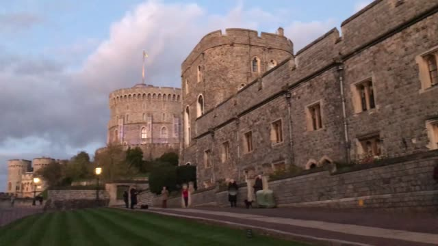 clips from inside windsor castle as people clap for carers on the frontline of the coronavirus battle for the second week in a row - windsor castle stock videos & royalty-free footage