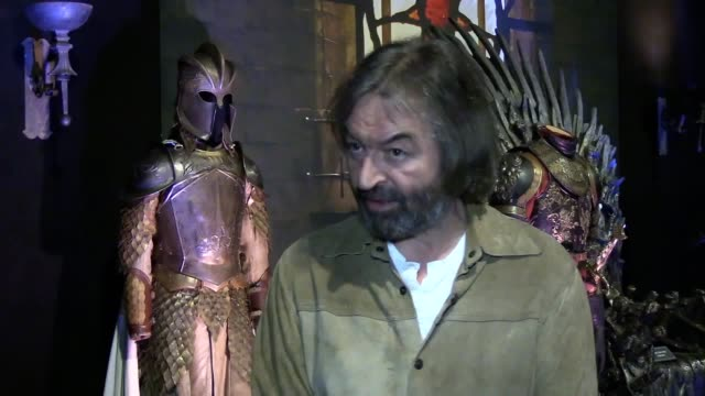 clips of the new game of thrones touring exhibition in belfast with an interview with costume designer michele clapton actor ian beattie says the... - design professional stock videos & royalty-free footage