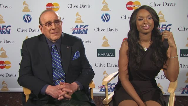 Clive Davis and Jennifer Hudson on her Aretha Franklin tribute at the Grammys at the PreGRAMMY Gala And Salute To Industry Icons Junket at Beverly...