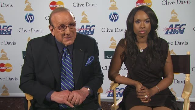 clive davis and jennifer hudson on the pregrammy gala who is performing who will be there and what jennifer is singing at the event at the pregrammy... - jennifer hudson stock videos & royalty-free footage