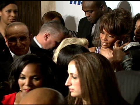 clive davis and whitney houston at the clive davis 2008 pre-grammy awards party at null in beverly hills, california on february 9, 2008. - whitney houston stock-videos und b-roll-filmmaterial