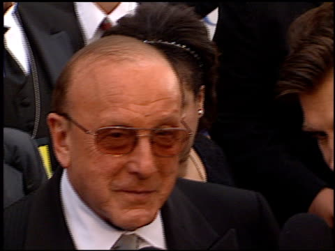 clive davis at the 2000 grammy awards arrivals at staples center in los angeles, california on february 23, 2000. - clive davis stock videos & royalty-free footage