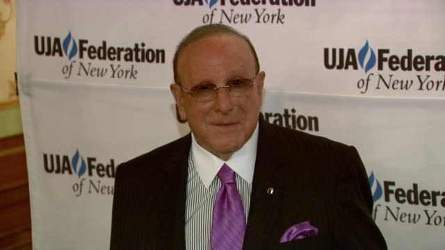 clive davis at uja-federation's music visionary of the year award luncheon clive davis at uja-federation's music visionary of at the pierre hotel on... - clive davis stock videos & royalty-free footage
