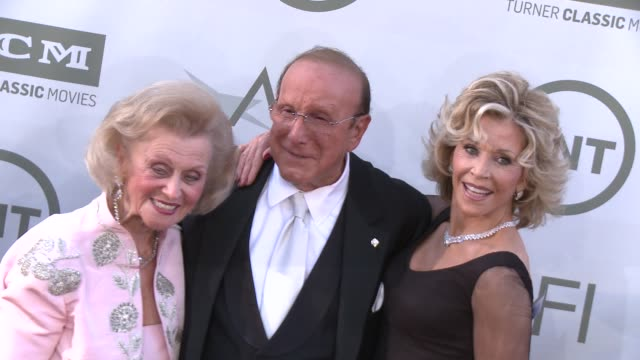 clive davis barbara davis and jane fonda at afi's 42nd life achievement award honoring jane fonda at dolby theatre on june 05 2014 in hollywood... - tulle stock videos and b-roll footage